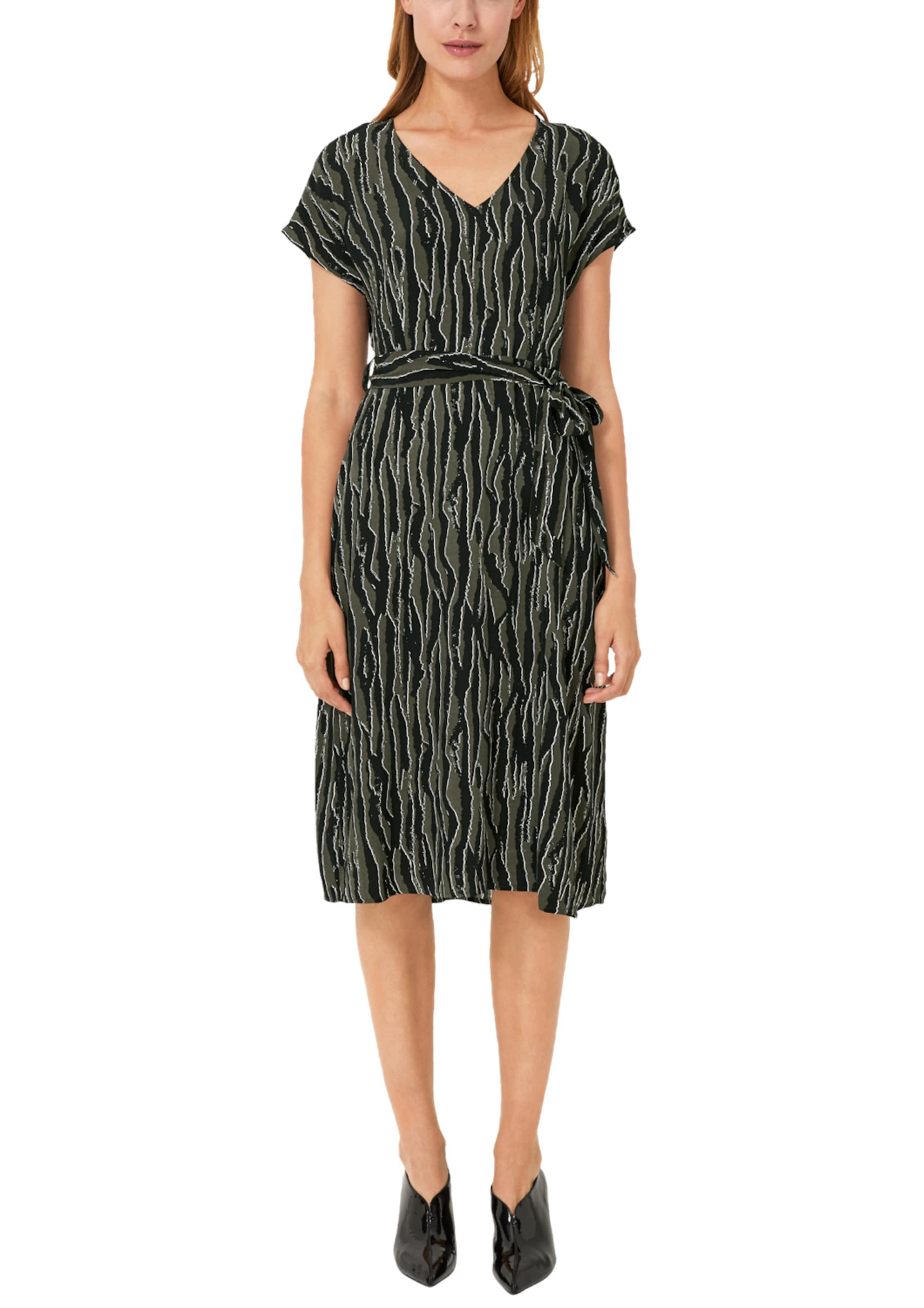 oliver KhakiSchwarz Kleid In Black S Weiß Label FJl1Kc3T