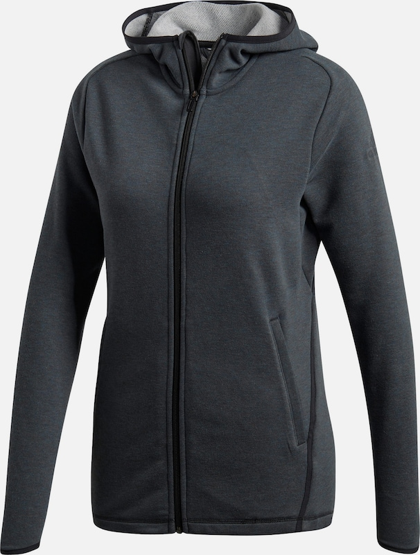 ADIDAS PERFORMANCE Fleecejacke 'Prime' in anthrazit, Produktansicht
