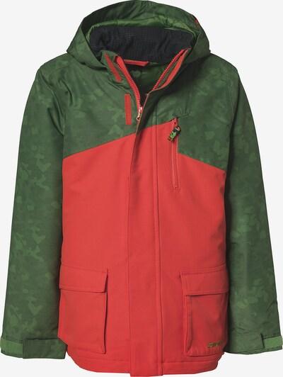ZIENER Skijacke 'ARIAN' in grasgrün / rot, Produktansicht