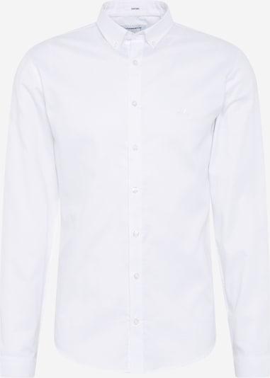 Lindbergh Hemd 'Oxford' in weiß: Frontalansicht