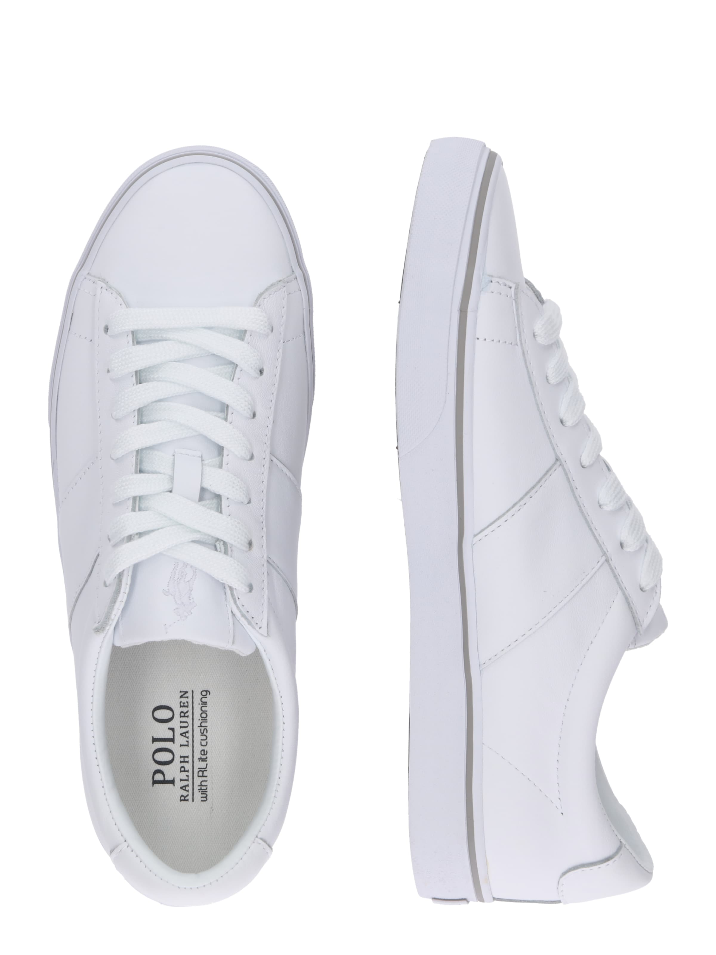 Lauren Sneaker Leather' Weiß Ralph Polo 'sayer In ymN80wOnv
