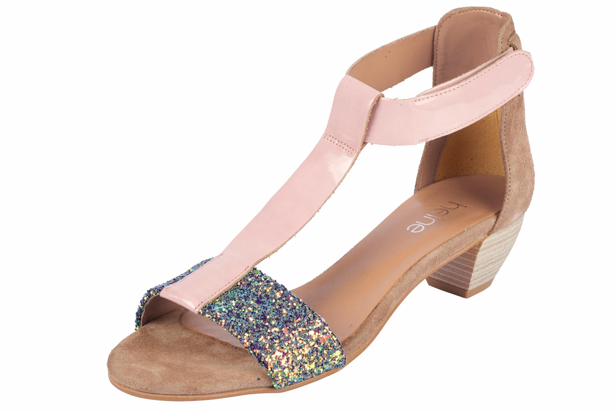 heine Sandalette mit Glitter Günstige und langlebige Schuhe