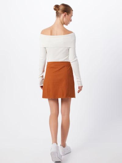 Missguided Spódnica 'Button Through A Line Mini Skirt' w kolorze rdzawobrązowym: Widok od tyłu