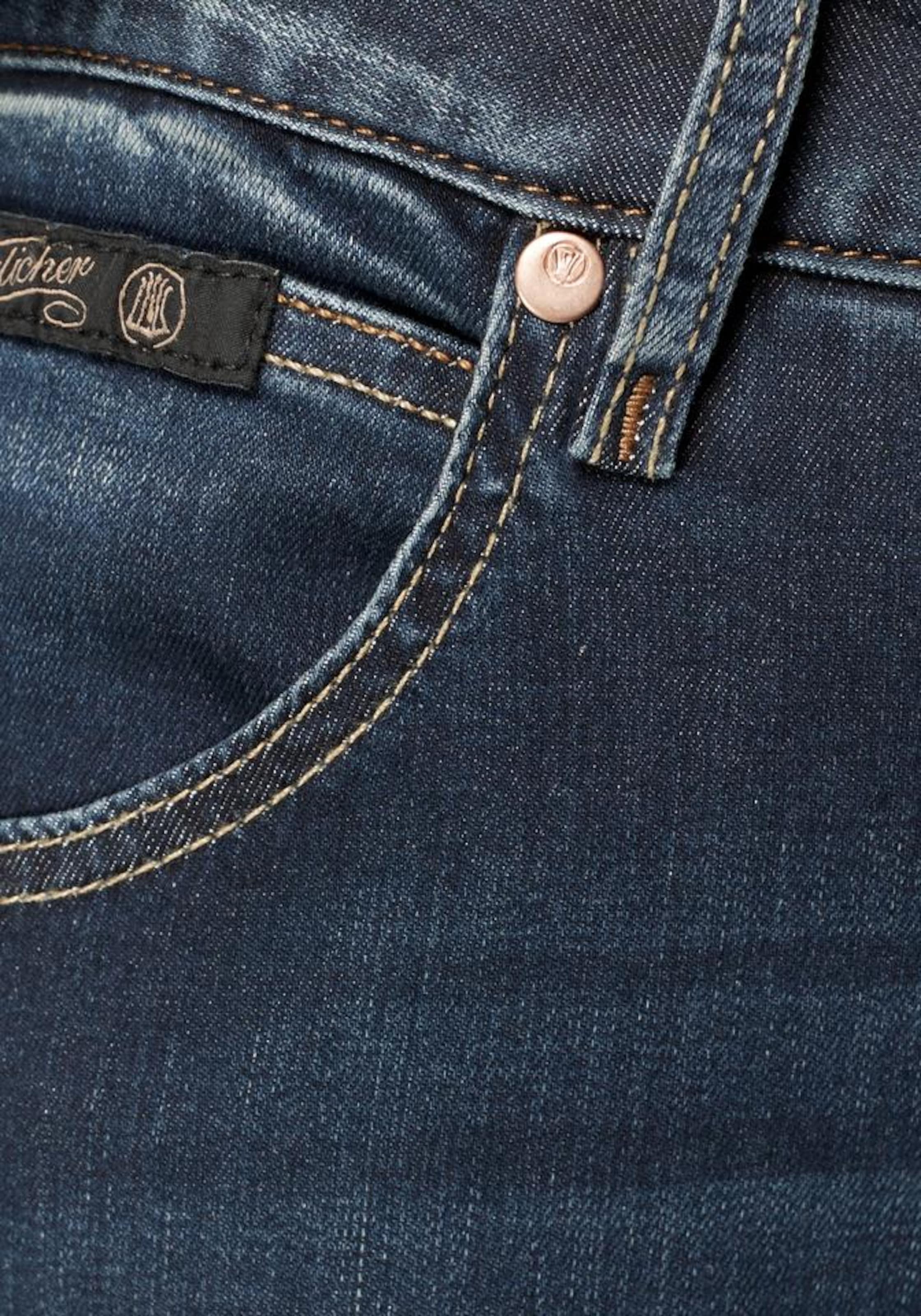 Jeans Herrlicher 'touch Cropped' In Dunkelblau Ovm8n0Nw