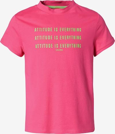 s.Oliver T-Shirt in grün / pink, Produktansicht