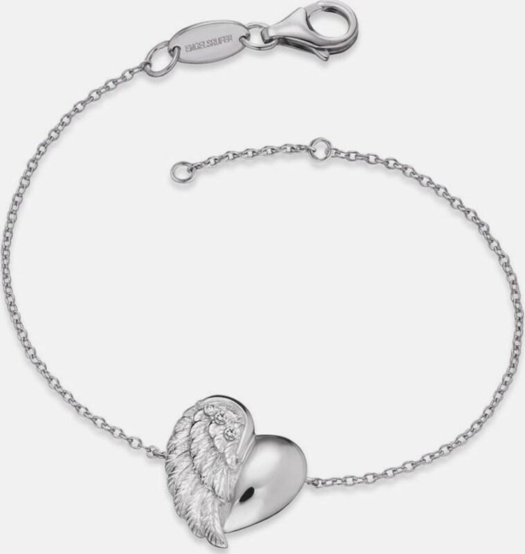 Engelsrufer Silberarmband 'Herzflügel, ERB-LILHEARTWING'