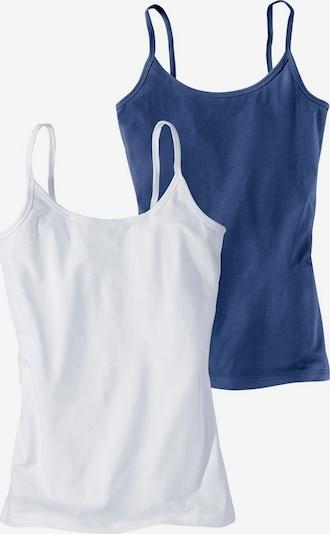 H.I.S Spaghettitops (2 Stck.) in blau / weiß, Produktansicht
