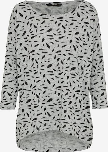 ONLY Shirt 'ELCOS' in hellgrau / schwarz, Produktansicht