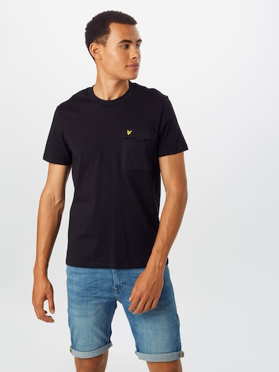 Lyle & Scott T-Shirt en noir: Vue de face