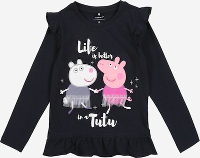 NAME IT Shirt 'Peppa Pig Evelyn' in nachtblau / rosa / weiß, Produktansicht