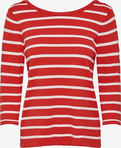 ONLY Pullover in rot / weiß, Produktansicht