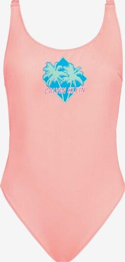 Calvin Klein Underwear Badeanzung in neonblau / hellgrün / rosa, Produktansicht