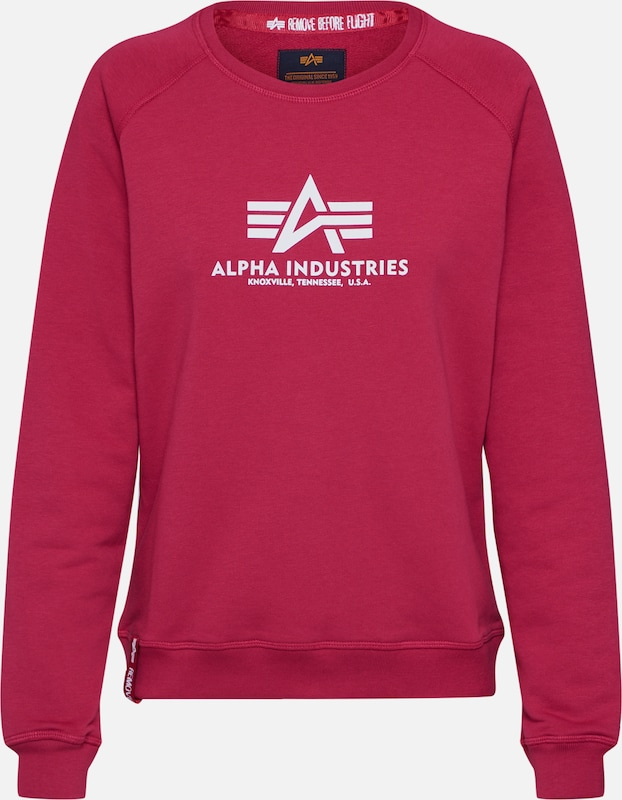 ALPHA INDUSTRIES Sweatshirt 'New Basic Sweater' in rot, Produktansicht