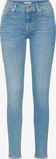 7 for all mankind Jean 'THE SKINNY SLIM ILLUSION DEPARTED' en bleu clair, Vue avec produit