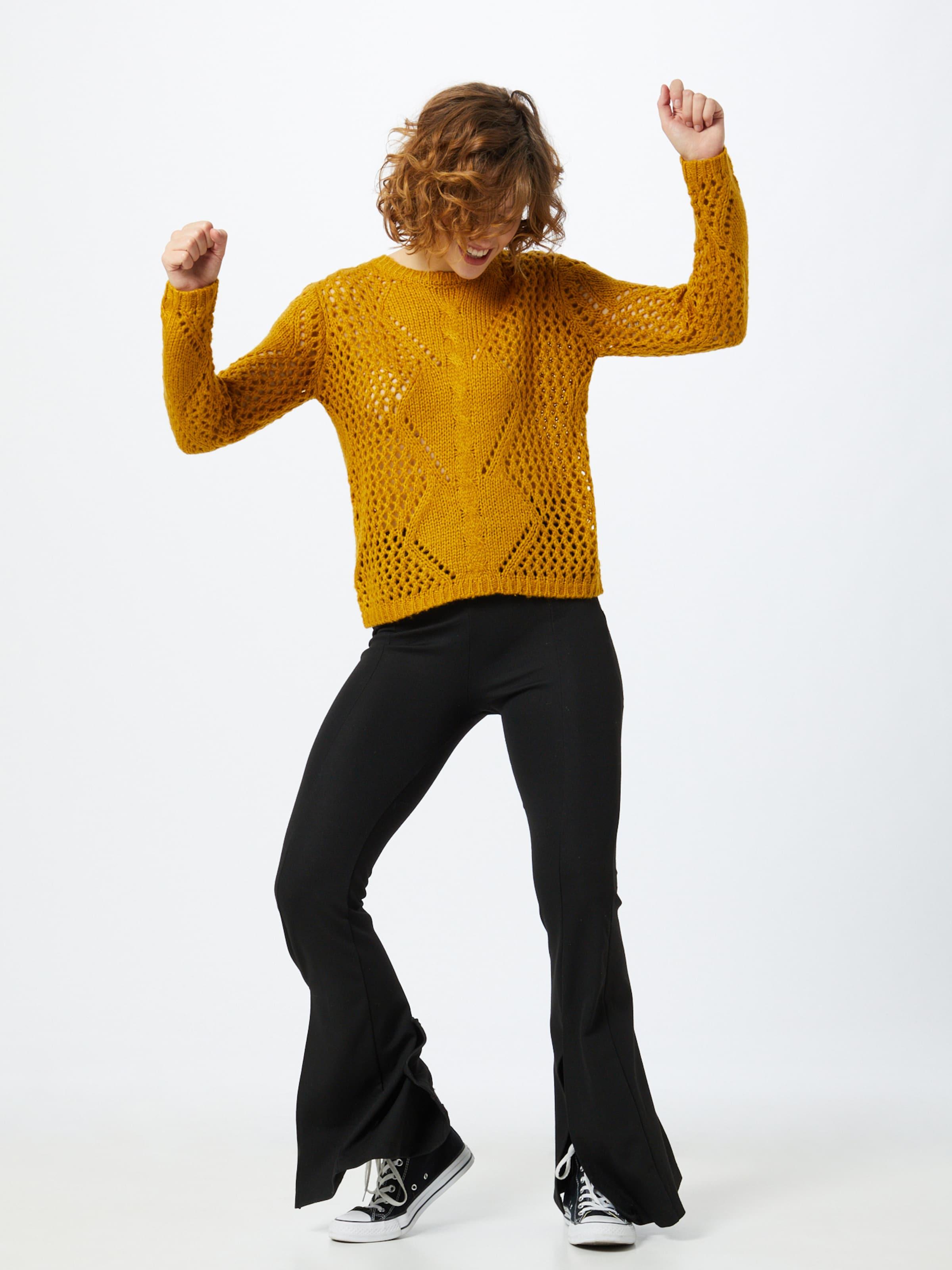 JACQUELINE de YONG Pullover in dunkelgelb