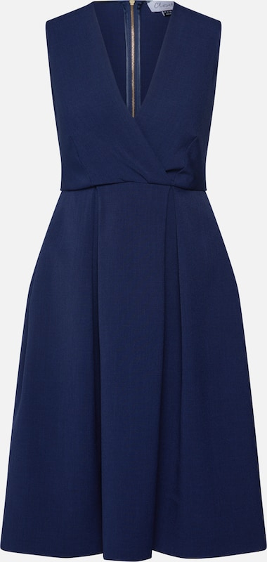 Closet London Robe de cocktail 'Closet Wrap Full Skirt Dress' en bleu marine, Vue avec produit