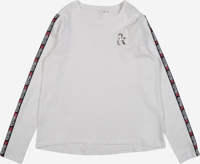 NAME IT Shirt 'NISSY' in rot / schwarz / weiß, Produktansicht