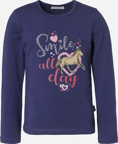 SALT AND PEPPER Shirt 'Pferde' in blau / pink / altrosa / silber, Produktansicht