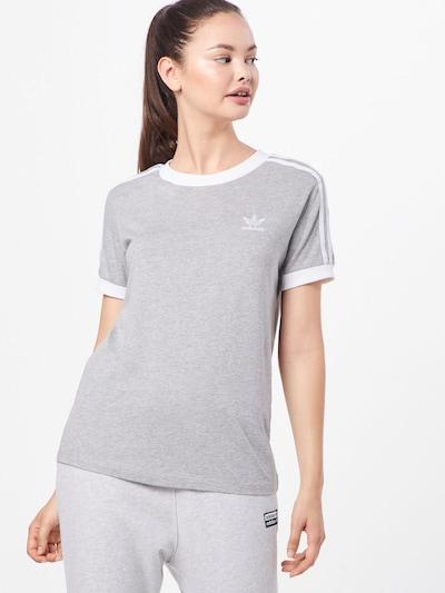 ADIDAS ORIGINALS Shirt in hellgrau / weiß: Frontalansicht