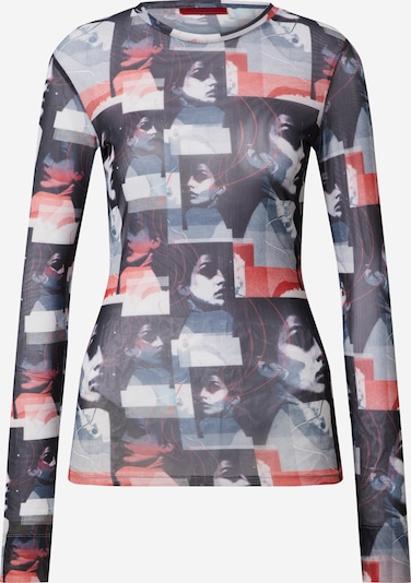 HUGO Shirt 'Diriana' in de kleur Nachtblauw / Rood, Productweergave