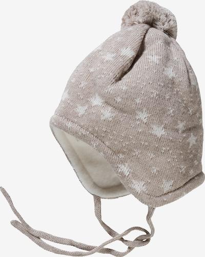 MAXIMO Mütze in camel / weiß, Produktansicht