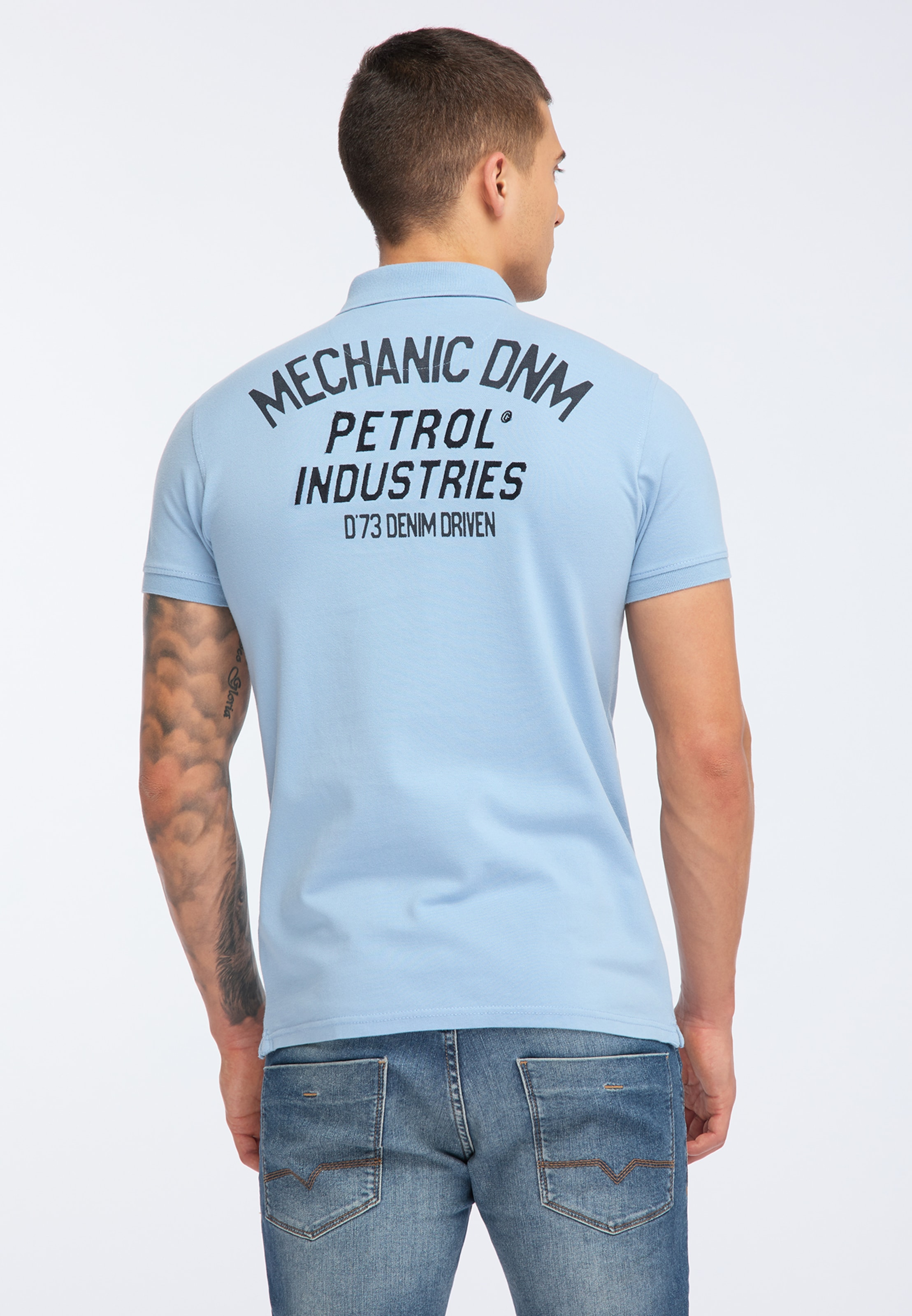 En T Petrol Industries Bleu shirt 5L4q3AjScR