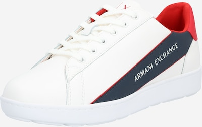 ARMANI EXCHANGE Sneakers laag in de kleur Navy / Rood / Offwhite, Productweergave