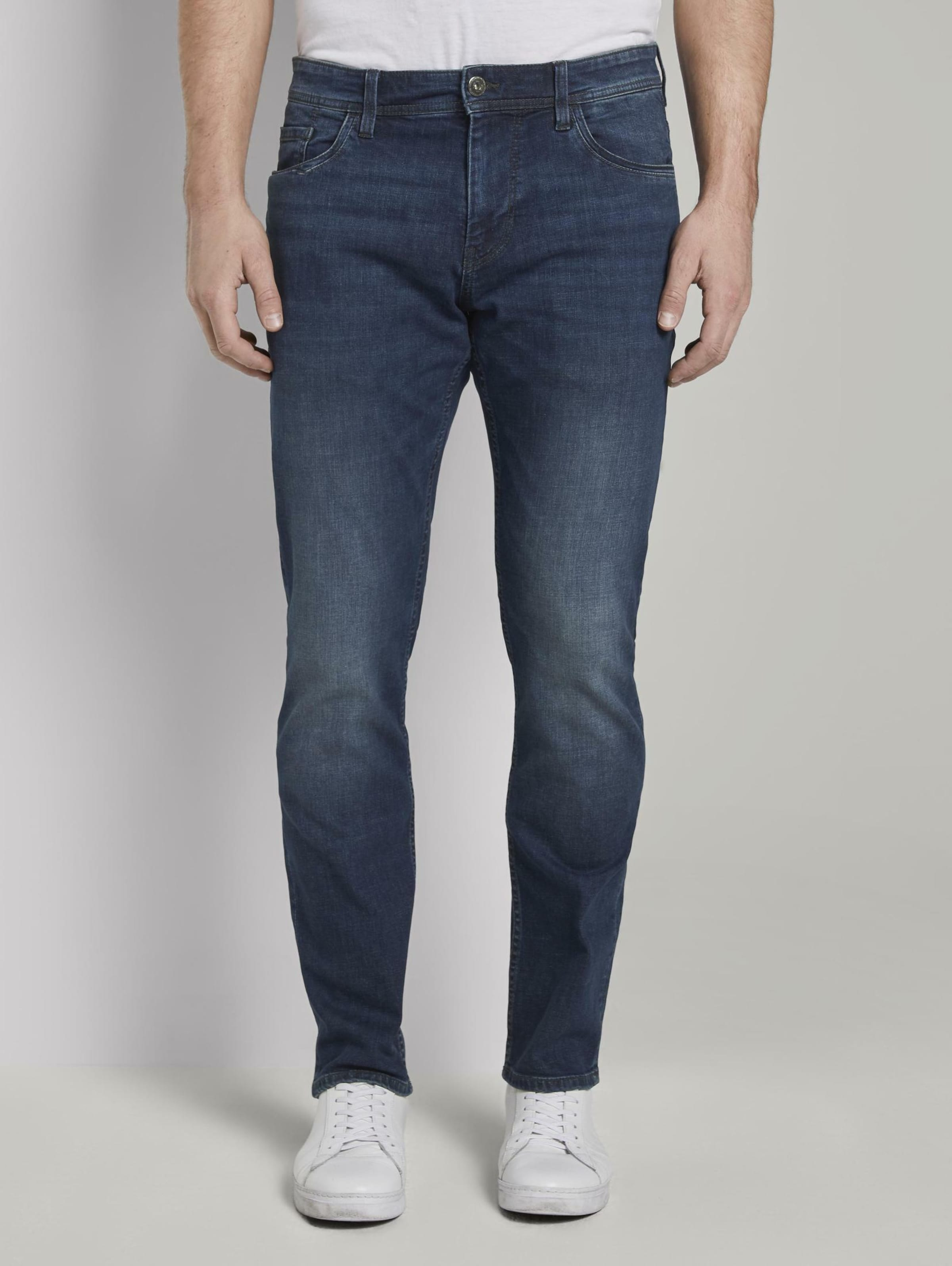 TOM TAILOR Jeanshosen Josh Regular Slim Jeans in blau Unifarben 1017302036