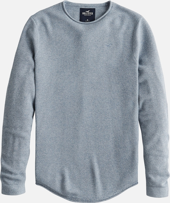 HOLLISTER Pullover 'MUSCLE FIT CREW' in blau, Produktansicht
