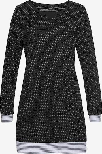 VIVANCE Nachthemd 'Dreams' in schwarz / weiß, Produktansicht