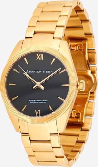 Kapten & Son Uhr 'Crush' in gold / schwarz, Produktansicht