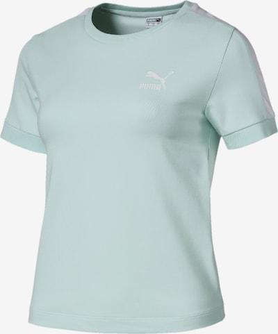 PUMA T-Shirt 'Classics T7' in opal / weiß, Produktansicht