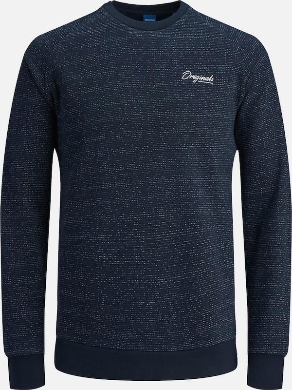 JACK & JONES Sweatshirt 'Jorhide' in navy / weiß, Produktansicht