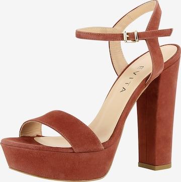 Sandales à lanières 'Stefania' EVITA en marron