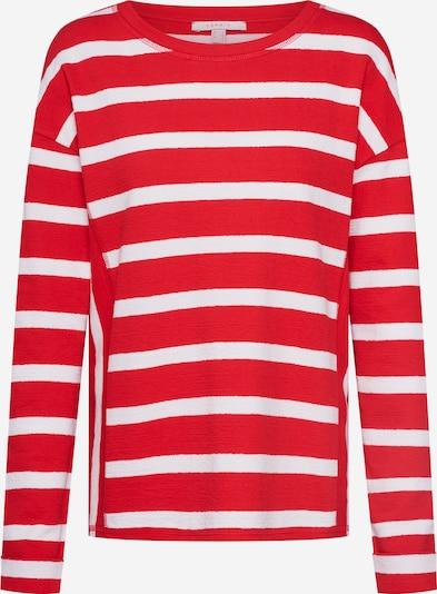 ESPRIT Shirt 'NOOS Stripe Top' in rot / weiß, Produktansicht