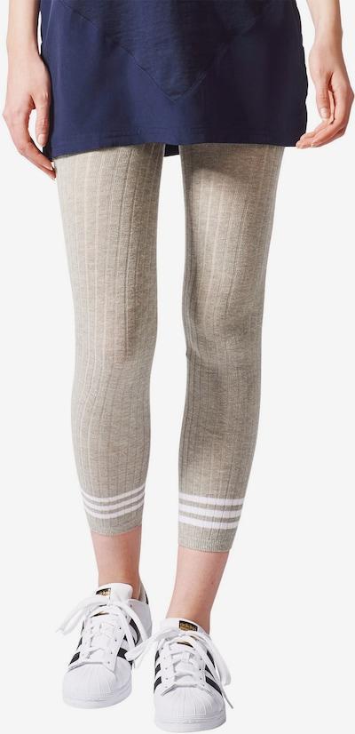 ADIDAS ORIGINALS Leggings '3 Stripes' in grau / weiß, Modelansicht