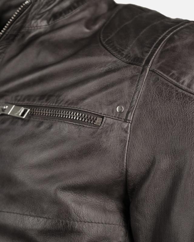 Maze Lederjacke mit Reißverschluss am Ärmel 'Flint'