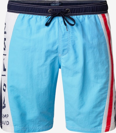 CAMP DAVID Badeshorts in blau / rot / weiß, Produktansicht