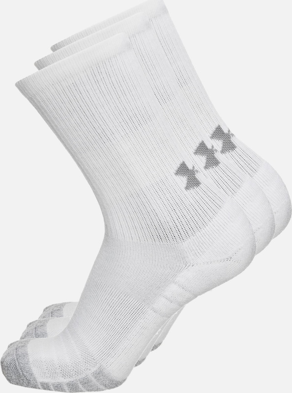 UNDER ARMOUR Socken 'HeatGear Crew' in graumeliert / weiß, Produktansicht