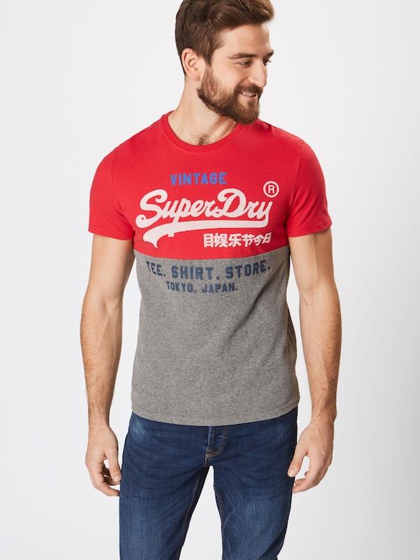 T Superdry GrisRouge Superdry T shirt shirt En FKc3l1JT