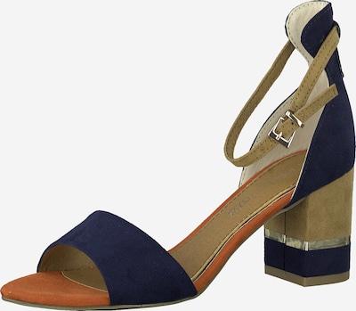 MARCO TOZZI Sandale in enzian / braun, Produktansicht