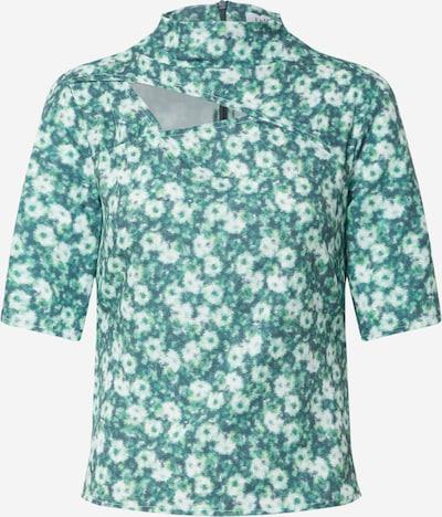 EDITED Shirt 'Josy' in de kleur Groen / Wit, Productweergave