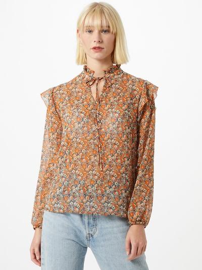Rich & Royal Bluse in creme / hellblau / orange, Modelansicht