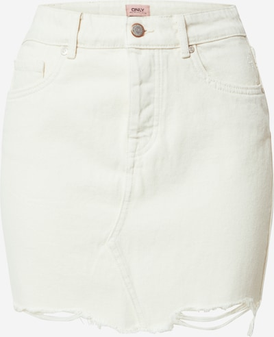 ONLY Rock 'ONLSKY REG SKIRT RAW EDGE DEST.BB PIM22W' in naturweiß, Produktansicht