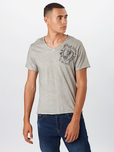 Key Largo Koszulka 'MT ROOTS' w kolorze szary / srebrno-szarym: Widok z przodu