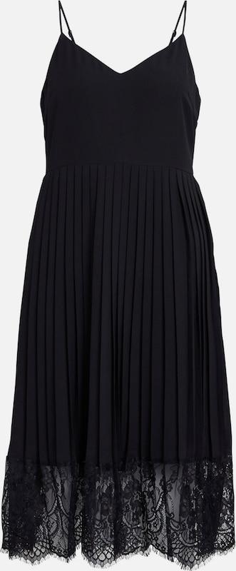 VILA Plissee-Spitzen-Kleid