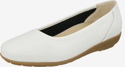 Natural Feet Ballerina 'Johanna' in weiß: Frontalansicht