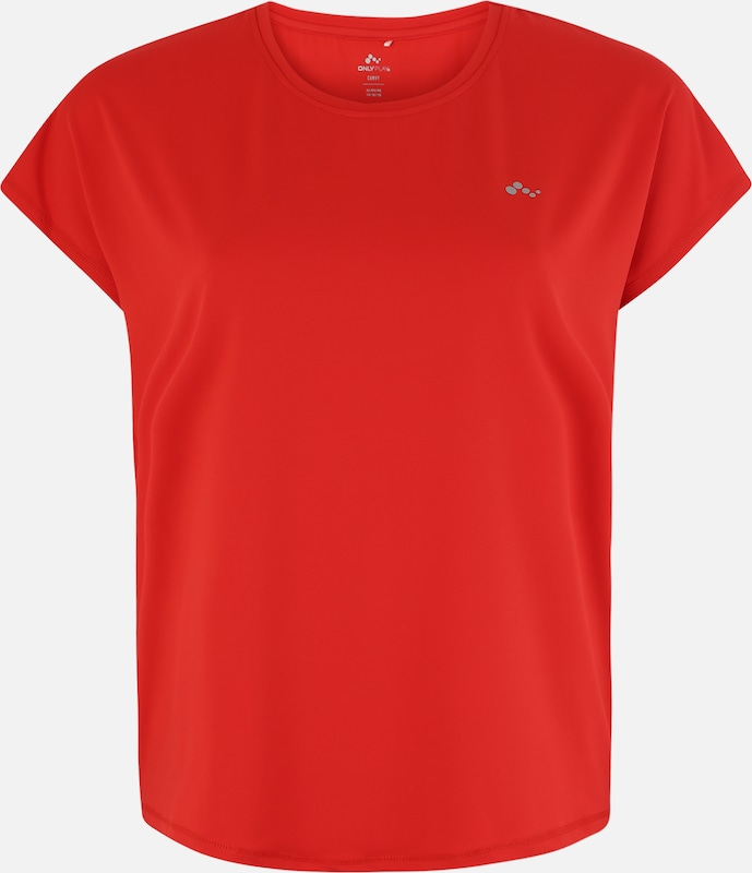 Only Play Curvy Sport-Shirt 'AUBREE' in rot: Frontalansicht