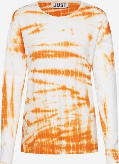 JUST FEMALE Shirt  'Annika' in orange / weiß, Produktansicht