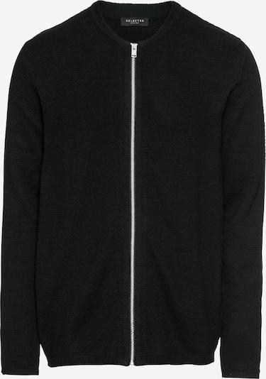 SELECTED HOMME Strickjacke 'ROCKY ZIP' in schwarz, Produktansicht